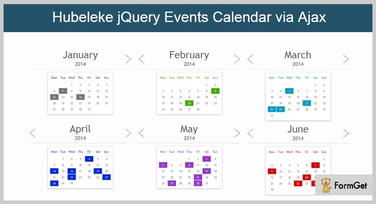 Hubeleke jQuery Calendar Plugin