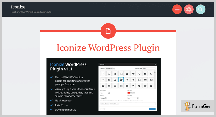 Iconize WordPress Plugin Icons WordPress Plugin