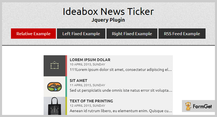 Ideabox jQuery RSS Feed Plugins