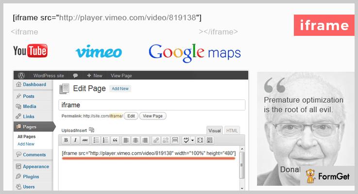 iframe WordPress iframe Plugin