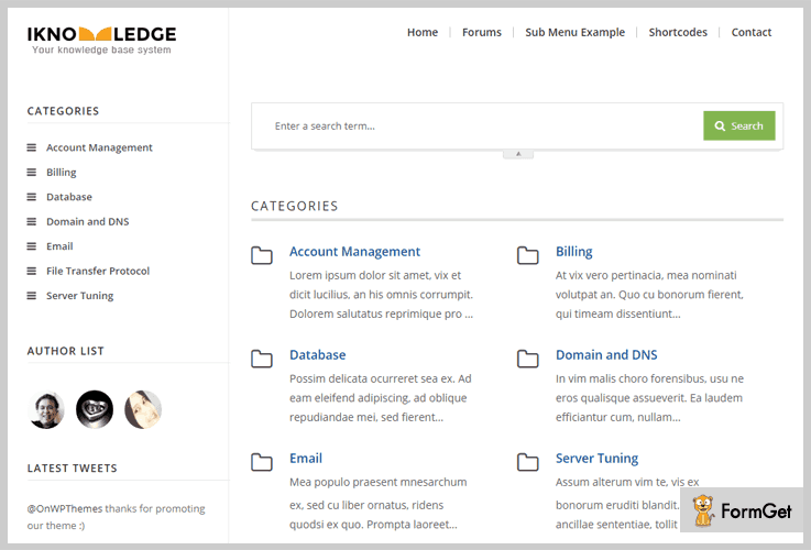 iKnowledge Wiki WordPress Theme