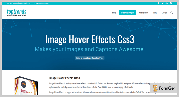 Images Hover Effects CSS3 Hover Effects WordPress Plugin