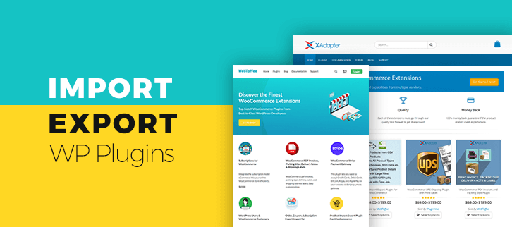 Import Export WordPress Plugins