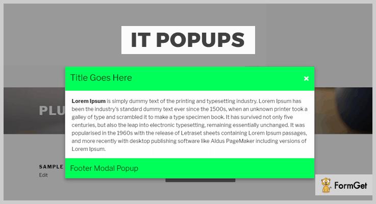 IT Popups Onclick Popup WordPress Plugin
