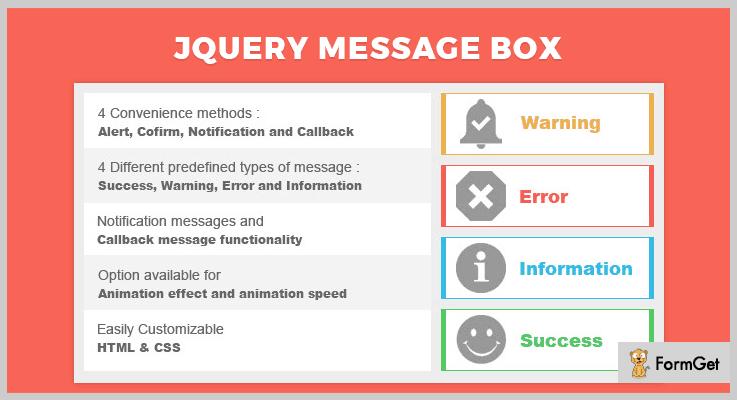 jQuery Message Box jQuery Alert Plugin