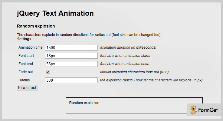 jQuery Text Animation Plugin