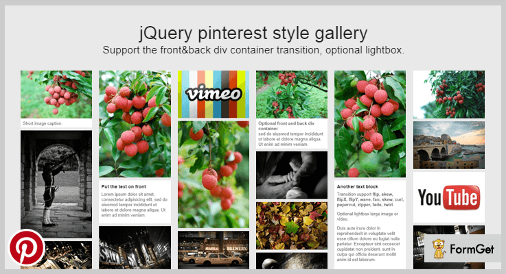 jQuery pinterest style gallery plugin jQuery Image Gallery Plugins