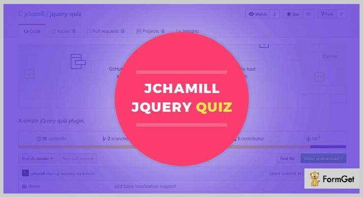 Jchamill jQuery Quiz Plugin