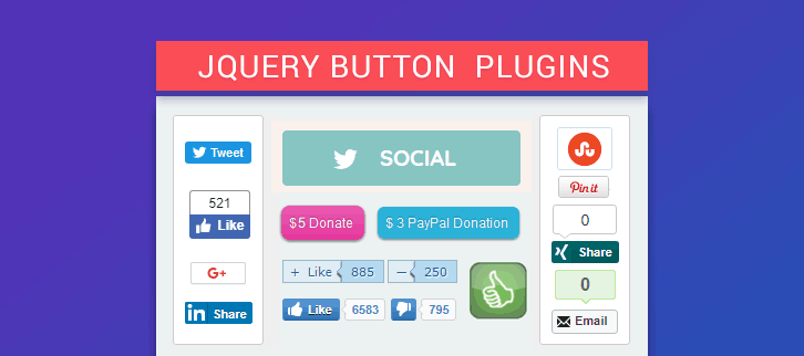 jQuery Button Plugins