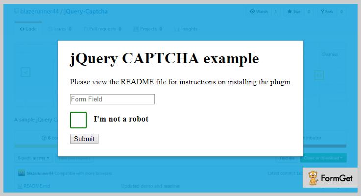 jQuery CAPTCHA jQuery Captcha Plugin