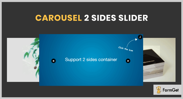 jQuery Carousel 2 Sides Slider Plugin jQuery Slideshow Plugin
