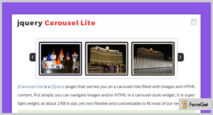 jQuery Carousel Lite jQuery Carousel Plugin