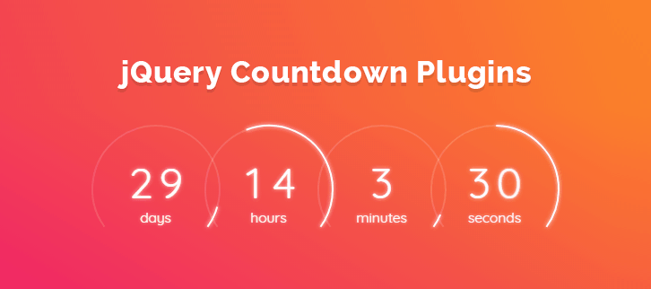 5+ jQuery Countdown Plugins 2019 (Free and Paid) | FormGet