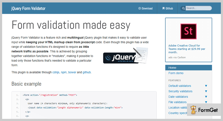 jQuery Form Validator jQuery Validation Plugin