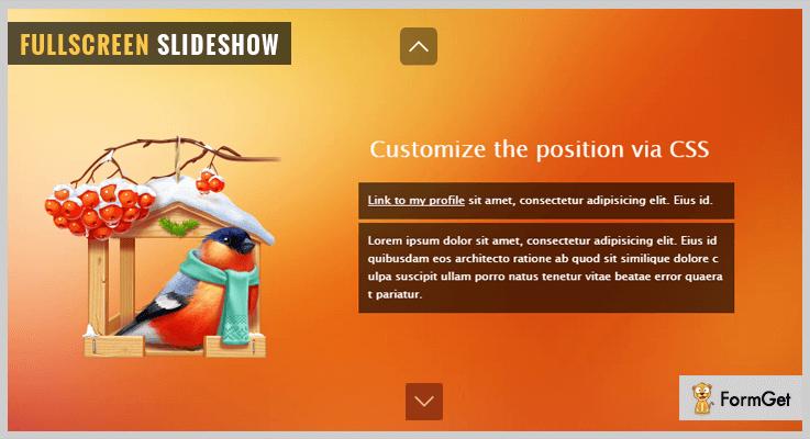 jQuery Fullscreen Slideshow jQuery Slideshow Plugin