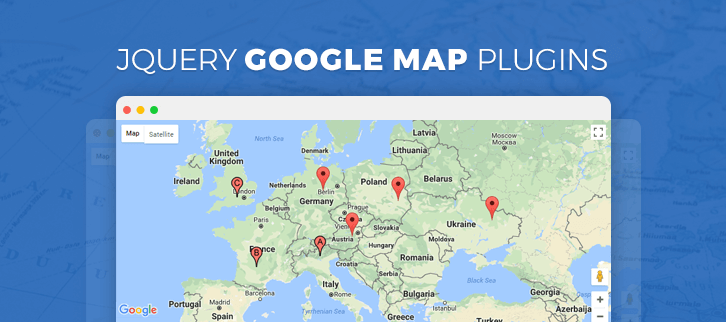 jQuery Google Map Plugins
