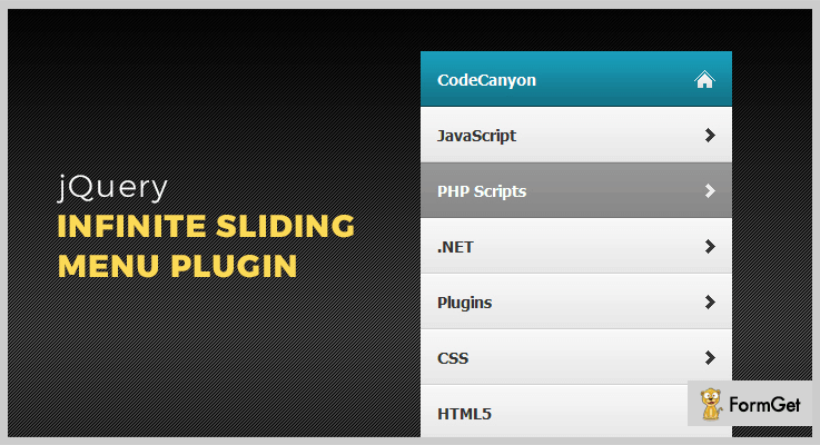 Infinite Sliding Menu jQuery Menu Plugins