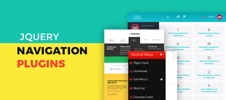 5+ Best jQuery Navigation Plugins (Free & Paid) | FormGet