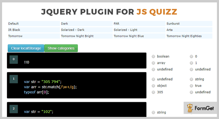 jQuery Plugin For Js Quizz