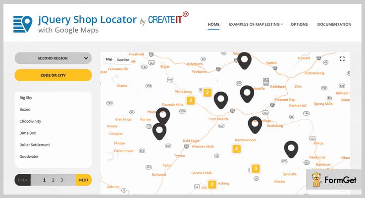 Shop Locator jQuery Store Locator Plugins