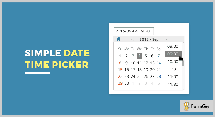 Simple Datetimepicker jQuery Timepicker Plugin