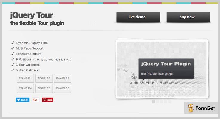 jQuery Tour jQuery Tour Plugin