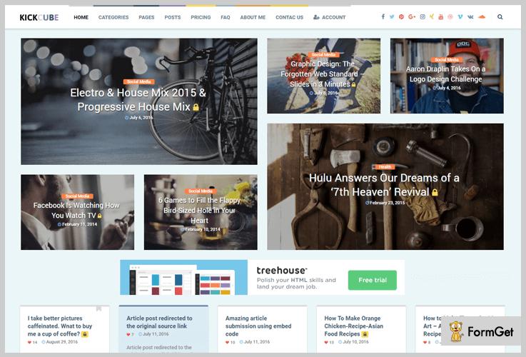 Kickcube Subscription WordPress Theme