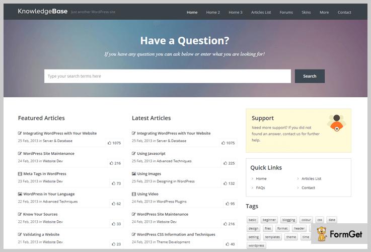 KnowledgeBase Wiki WordPress Theme