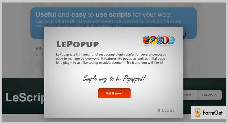 LePopup jQuery Popup Plugin