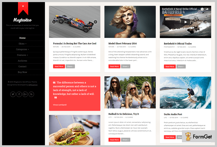 Magtastico Masonry WordPress Theme