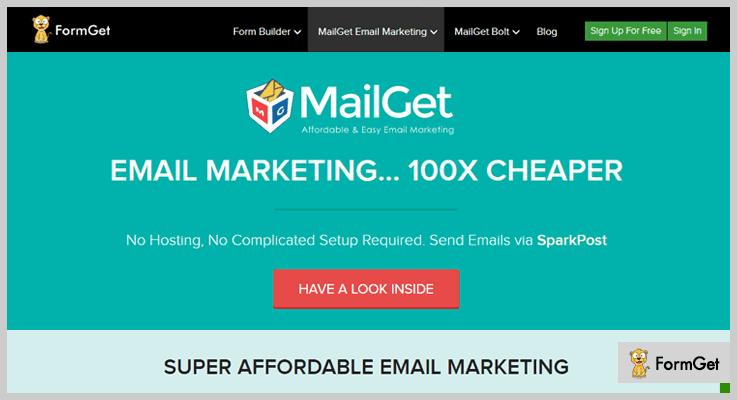 MailGet Mailing List WordPress Plugin