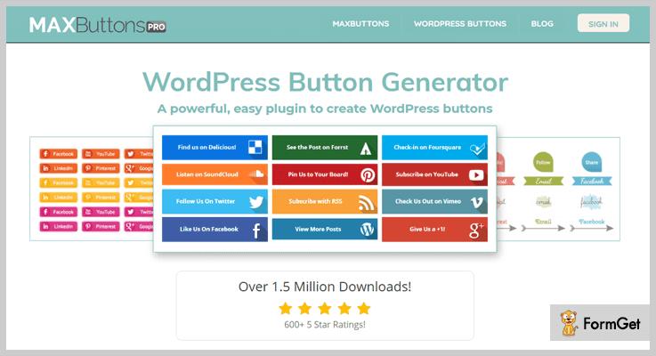 Max Buttons Button WordPress Plugins
