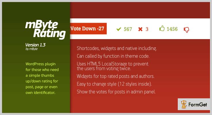 mByte Rating Thumbs Up WordPress Plugins