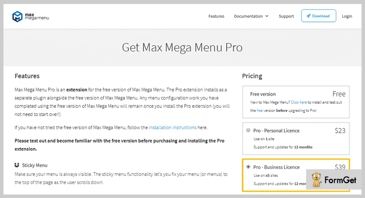Max Mega Menu WordPress Drop Down Menu Plugin