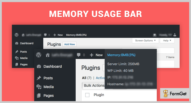 Mmeory Usage Bar WordPress Memory Usage Plugin