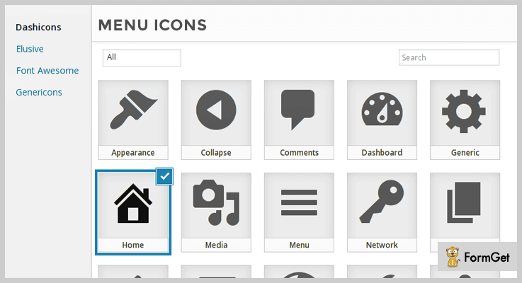 Menu Icon Icons WordPress Plugin