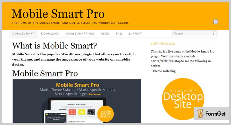 Mobile Smart Pro Mobile Menu WordPress Plugin