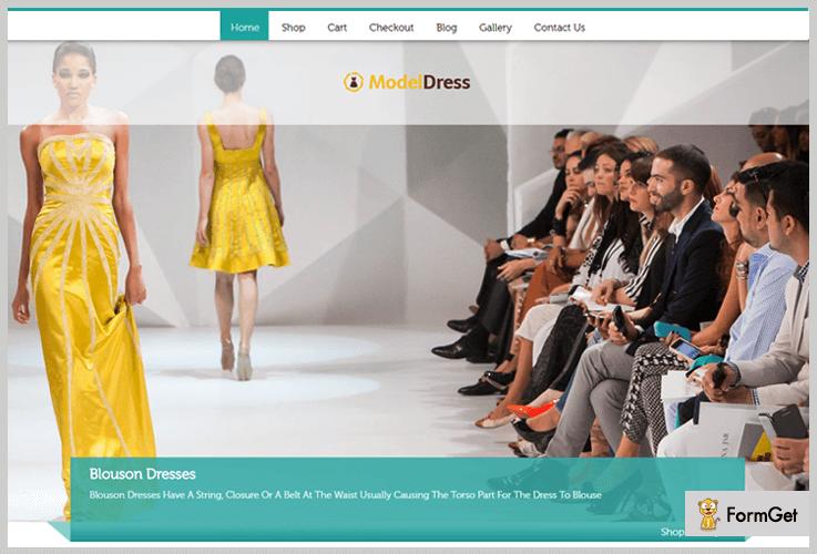 ModelDress Girly WordPress Theme