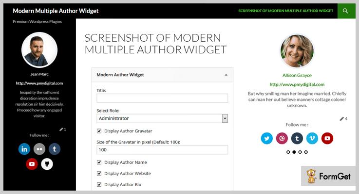Modern Multiple Author Widgets Multiple Authors WordPress Plugin