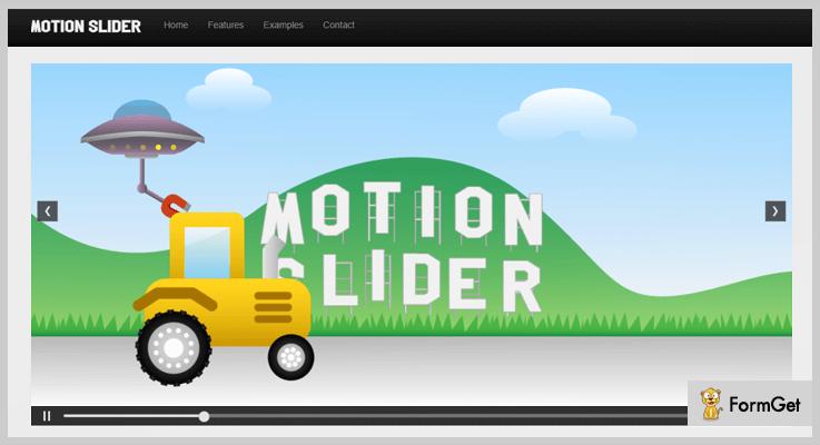 Motion Slider 3D Slider jQuery Plugin
