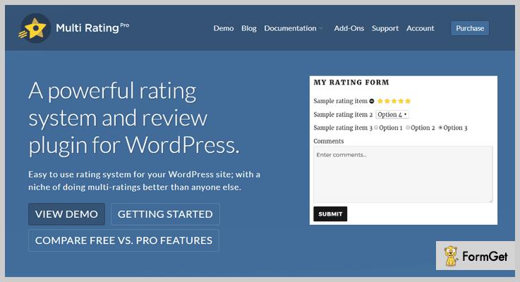 Multi Rating Rating WordPress Plugin