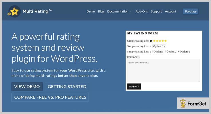 MultiRating Thumbs Up WordPress Plugins