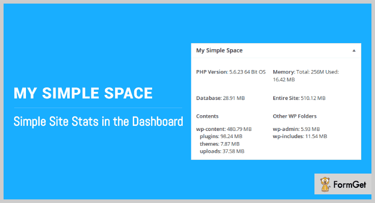 My Simple Space WordPress Memory Usage Plugin