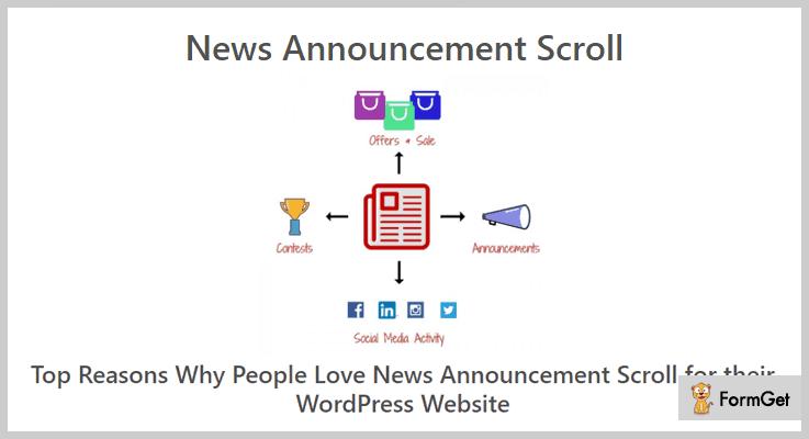 News Announcement Scroll Announcement WordPress Plugin