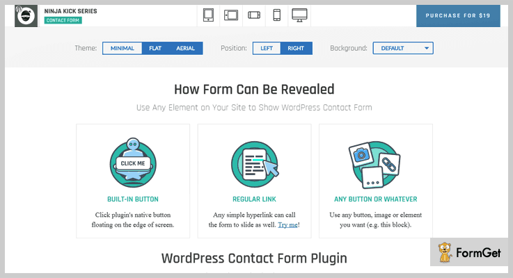Ninja Kick Contact Form WordPress Plugin