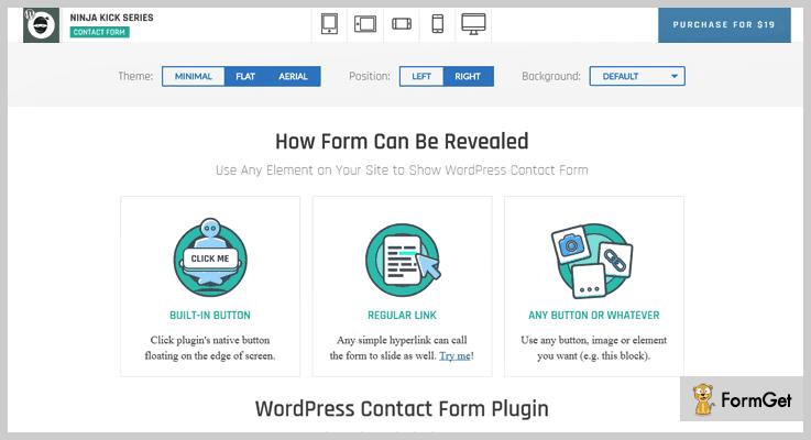 Ninja Kick Contact Us Plugin WordPress