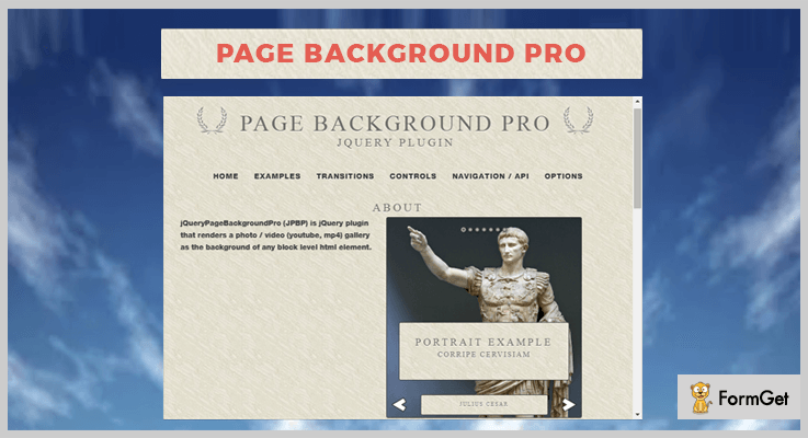 Page Background Pro jQuery Plugin