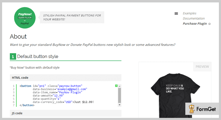 PayNow PayPal jQuery Plugin