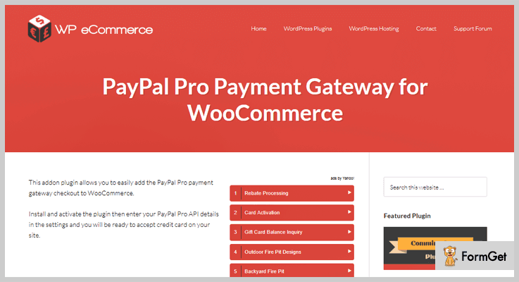 PayPal Pro WordPress Payment Gateway Plugins