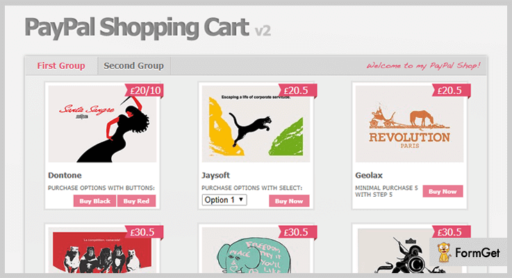 PayPal Shopping Cart PayPal jQuery Plugin